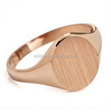 New Arrive Women 14kt Rose Gold Signet Ring for Wholesale Alibaba Website Cheap Fashion Ring