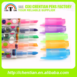 Made in China Hot Sale Classic Highlighter Pen Brilliant Color