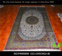 Iranian traditional qum afghan home decor chinese handmade persian oriental silk carpet