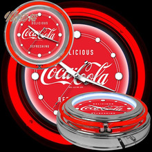 COCA FLEXIBLE NEON WALL CLOCK