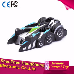 Hot selling Steering wheel high speed RC Wall Climbing Car for childs Christmas gift