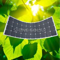 Highest efficiency Sunpower Solar Panel 100W 120W 130W 140W 150W 180W Semi Flexible Solar Panels, Marine Flexible Solar Panels