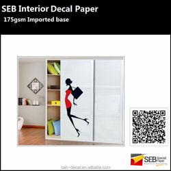 175gsm Water Transfer slide Decals For DIY tile/glass/wood door decoration