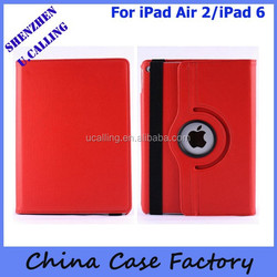 Free Shipping 360 Degree Rotation Leather Case For iPad Air 2