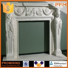 professional design white white marble fireplace surrounds