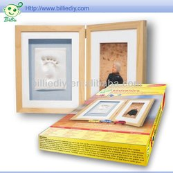 Baby Handprint clay Frame