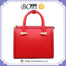 cheap lady leather brand name flap bag double cc handbag