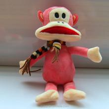 Soft toy plush stuffed monkey toys, promotion sale wild animal plush monkey
