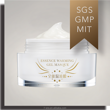 hydrating whitening firming beauty gel mask cream with warming sensation