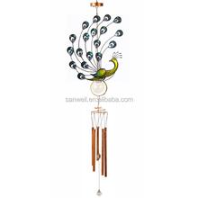 spring vivid metal stand LED wind chimes display