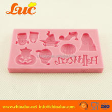 Lsm042 Cake Decoration Silicone Mould For Cake Halloween Pumpkin Mold