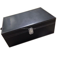 vanity luxury cardboard leather wine carrier box