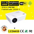 Full HD Home Cinema 1080 p Proyector Mini Proyector con sintonizador de TV