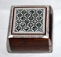 Egyptian Handmade Mosaic Inlaid Mother of Pearl Jewelry Box