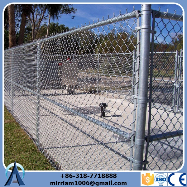 Commercial Galvanized Chain Link Fence for trade insurance.jpg