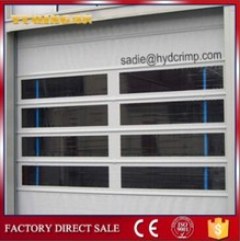 YQF-01 Stacked plastic PVC rolling door with transparent window/high speed stacking roller door
