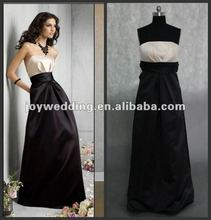 N050 latest Real sample 2012 new design satin ladies black designer dress