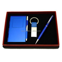 Promotion custom pen keychain gift set
