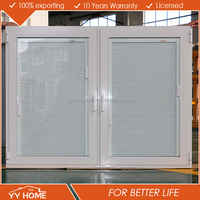 YY HOME Aluminum Tilt Turn Window as per au standard /tilt and turn with blinds/double glazed windows from china yy factory