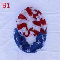 Hot selling fashion jersey America flag seamless infinity scarf