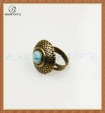 2015 New Designed Hotsale Fashion Wholesale Women Cheap Gold Round Ring