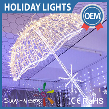 2015 New Led Christmas Holiday Party Decoration Lights Gift Unbrella Frame Lights