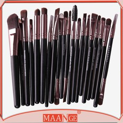 MAANGE 20 piece wood handle synthetic hair wholesale make up brush set wiht opp bag