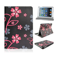 Wholesale 2014 New Flower Leather Stand Cover Case For Apple iPad Mini, Accept Paypal