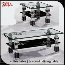 glass coffee service table