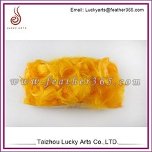 Lucky Arts Home Decorative dyed orange feathers sale