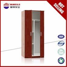 KD structure bedroom wardrobe apartment 2 door metal wardrobe steel wardrobe cabinet in discount