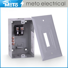 high quality metal distribution box 50A single phase 2 way residential electrical load center