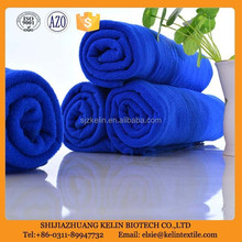 cheap fine china 400*400mm dark blue woven buffing microfiber towel car wash