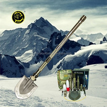 New Durable outdoor car emergency tool kit ,DOU JI shovel sets shovel hoe flashlight camp axe