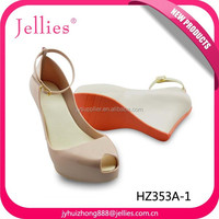 Hot Sale Plastic High Heel Jelly Sandals Shoes