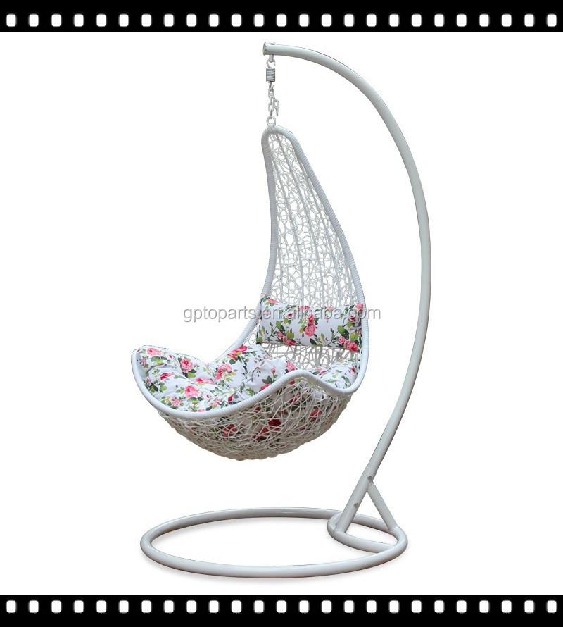 Forma de huevo de la rota de mimbre cama silla columpio for Silla huevo colgante