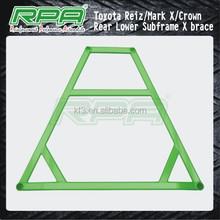 Rear lower subframe x brace chassis stiffener x brace strut brace for Toyota Reiz Mark X Crown