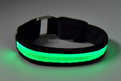 Colorful portable safety flashing led armband for party,events,running,cycling,skating