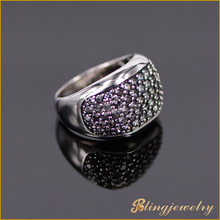 Hip hop jewelry big stone ring designs gold plated diamond ring for men