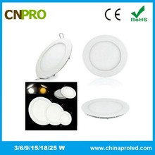 CE/ROHS Approval High Power Factor 18W Round Panel Light
