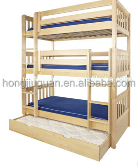 en bois s parable triple lit superpos avec gigogne pour enfants literie id du produit. Black Bedroom Furniture Sets. Home Design Ideas