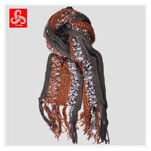 Ladies stripes handmade crochet scarf
