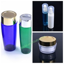Luxury clear cosmetic packaging sets bottle and jar