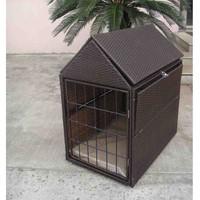 Fashion simple multifunction dog house rattan