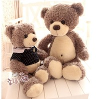 Stuffed Animal toys super soft Plush teddy bear toys with polo shirt Korea style