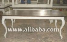 Dining Table Curved Legs - Wooden Dining Table