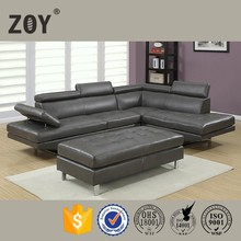 Modern Leather Living Room Corner Sofa Home Furniture,l shape sofa cover Zoy-97820