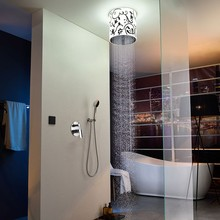 Rainfall shower set with 300mm embeded ceiling led shower head
