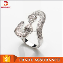 china manufacturer micro pave cz 925 sterling silver platinum and gold plating snake ring