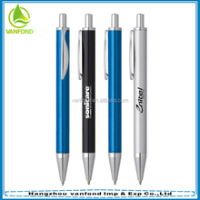 Blue or black ink luxury metal promotional ball pen with laser logo
